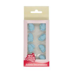 FunCakes spiselig kakepynt -Lyseblå babyføtter- 16 stk