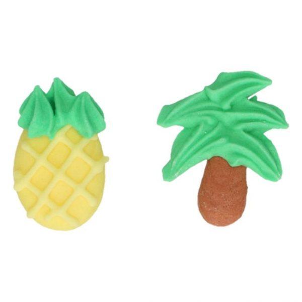 FunCakes spiselig kakepynt -Ananas og Palmetre- sett/8
