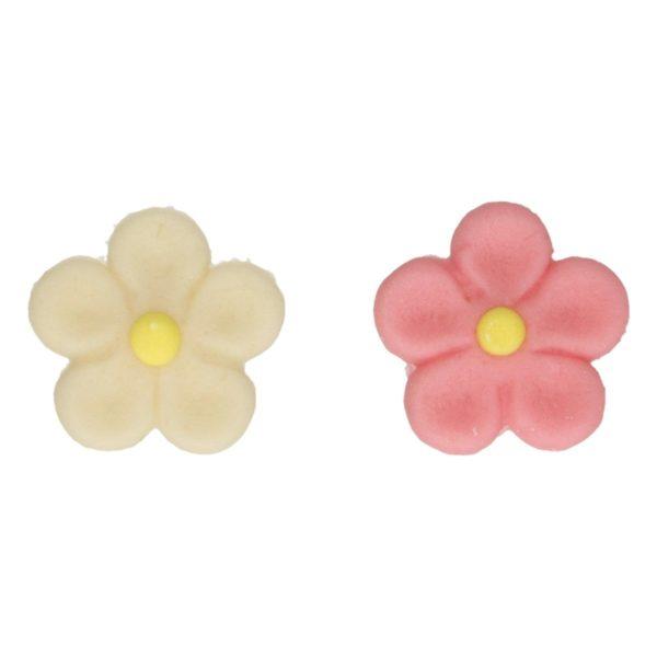 FunCakes Spiselig pynt Marsipan Hvite/Rosa blomster pk/12