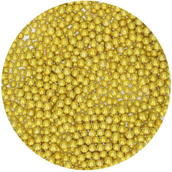 Kakestrø Sukkerperler Metallic Gull