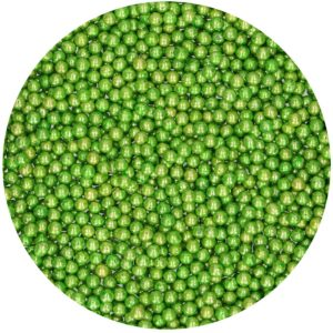 Kakestrø Sukkerperler Metalic Grønn