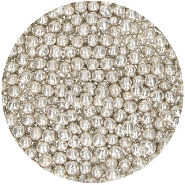 FunCakes Myke perler - Metallic Sølv 55g