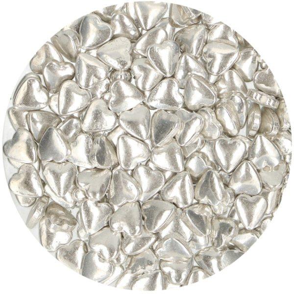 FunCakes Kakestrø Sølv hjerter 80g