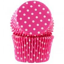 Muffinsform Polka Cerise jumbo, 30 stk