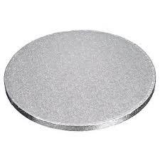 Kake Drum Rund Sølv 40cm