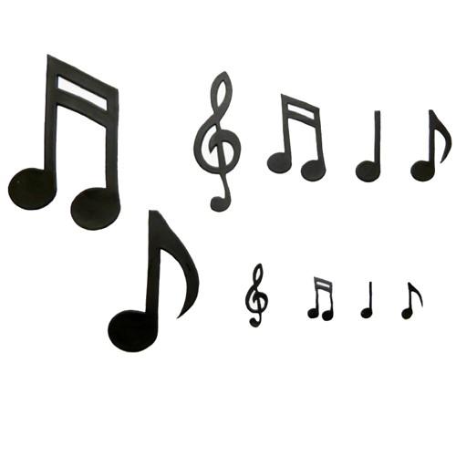 Patchwork Utstikker store musikk-noter