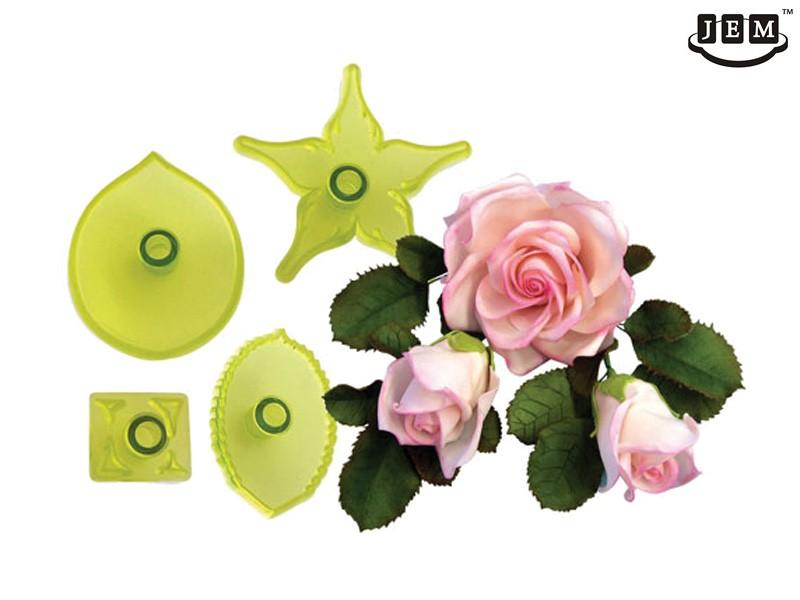 JEM utstikker Stor rose, 4 deler