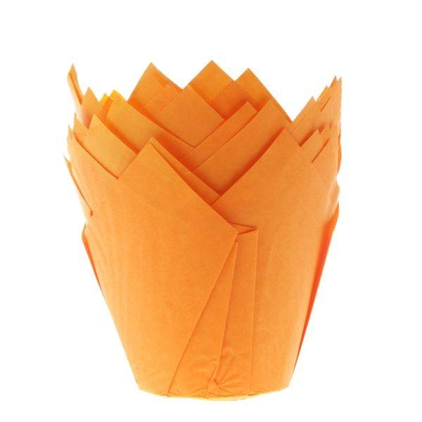 Oransje muffinsform tulipan fra House of Marie pk/36