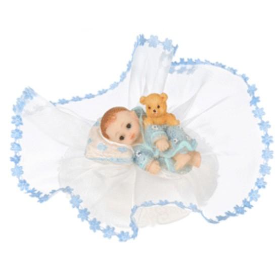 Kaketopp Babygutt med kosebamse -nr3