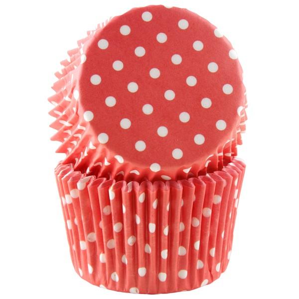 Muffinsform, Røde polka Jumbo 30 stk