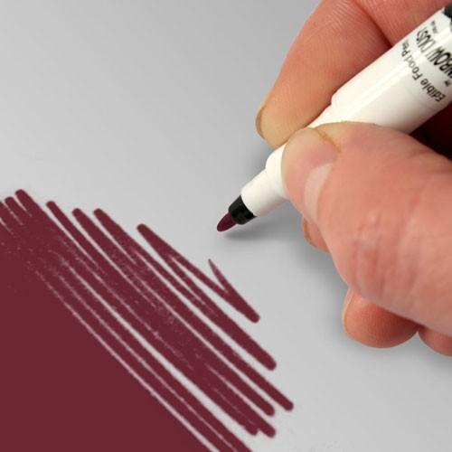 Food Art Pen spiselig tusj - Burgunder