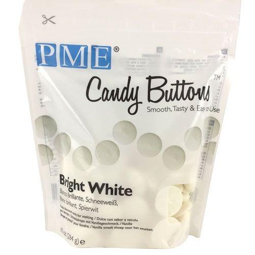 PME Candy Buttons Ekstra hvit 284g
