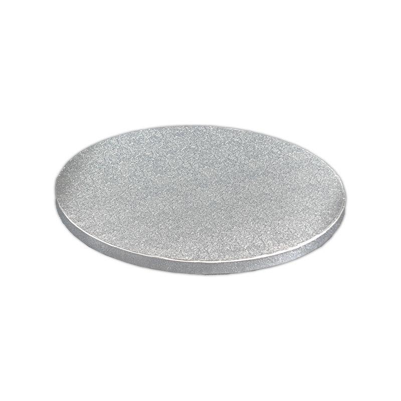 Kake Drum Rund Sølv 25cm