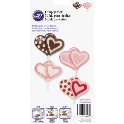 Lollipop Mold Stor dobbelt hjerte