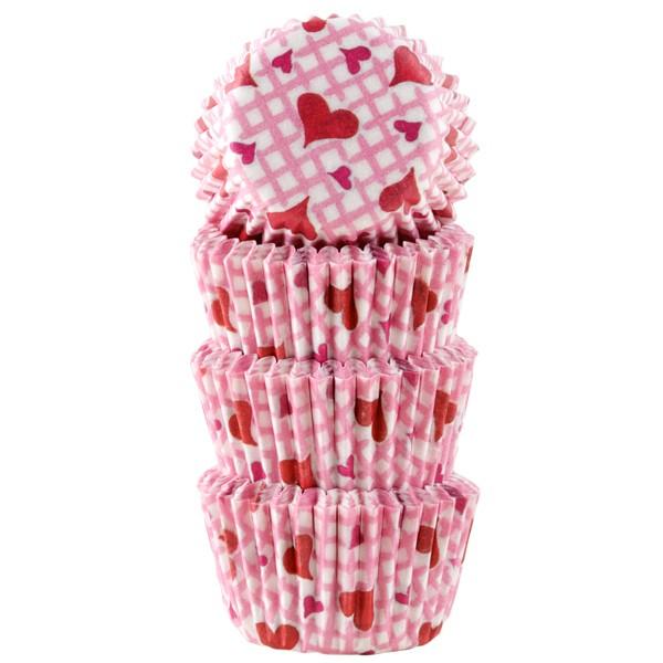Muffinsform Konfekt Hjerte Rosa 100 stk