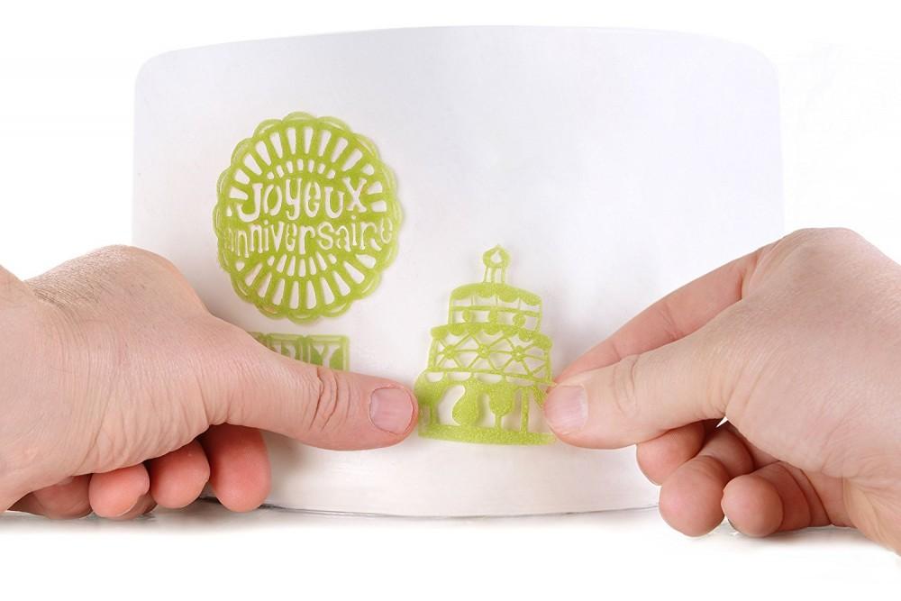 Silikomart Cake Lace silikonmatte -Happy Birthday-