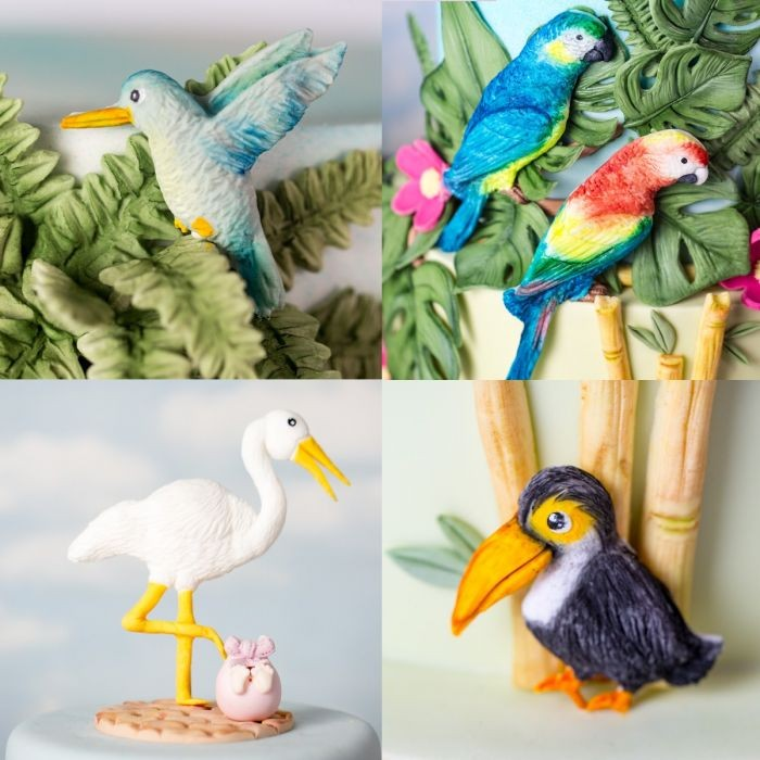 Karen Davies silikonform Tropiske fugler