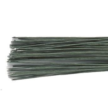 Blomsterwire Mørk grønn 50stk 0,25mm 30 gauge