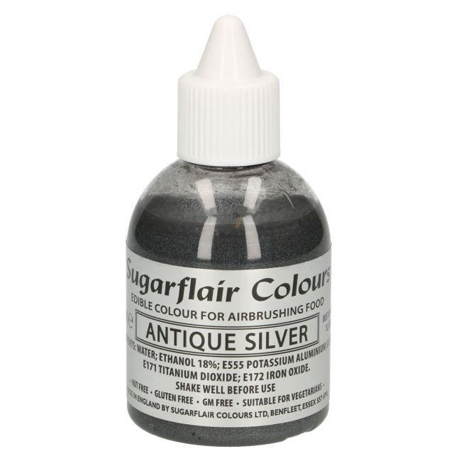 Sugarflair Airbrushfarge -Glitrende antikk sølv- 60ml
