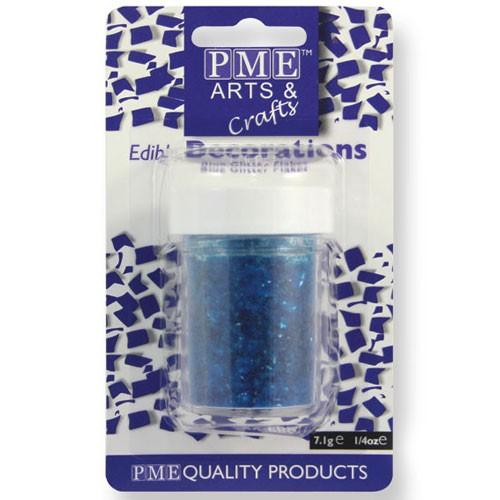 PME Glitter Flakes - Blå 7g
