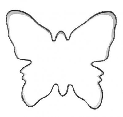 Pepperkakeform sommerfugl stor - 10 cm