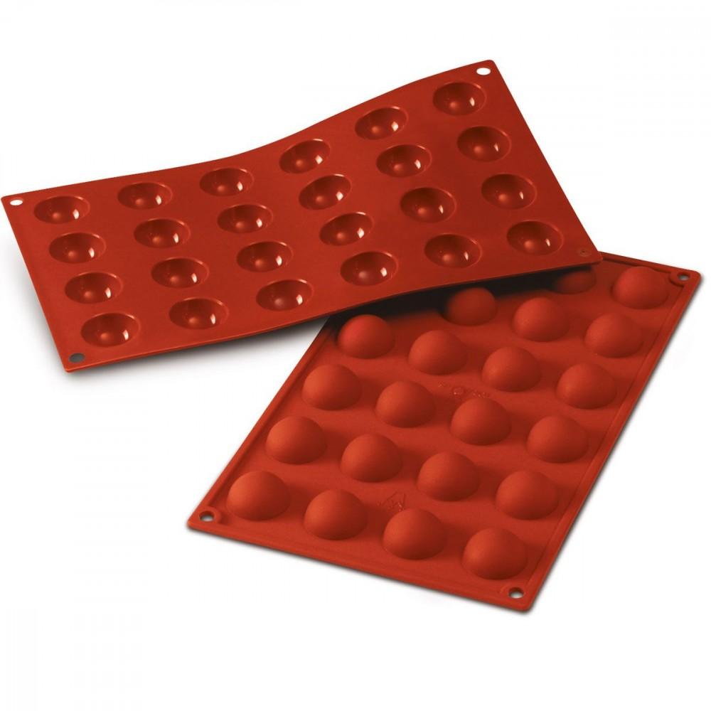 Silikomart halvkuleformer i silikon, Ø 3cm