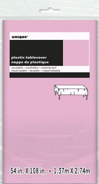 Lyserosa engangs plastduk, 170x270cm
