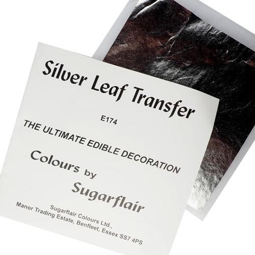 Sugarflair Leaf Transfer - Sølv