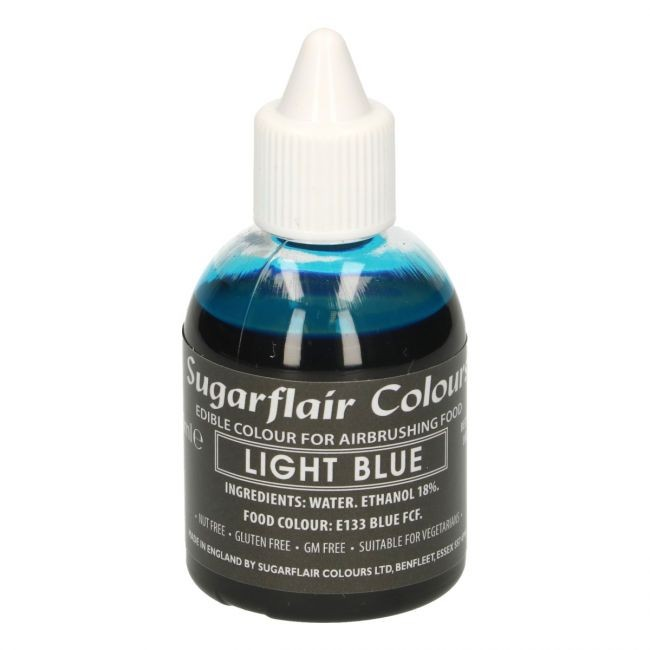 Sugarflair Airbrushfarge -Lys blå- 60ml