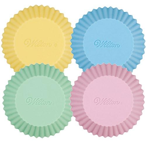 Muffinsformer i silikon, pastell 12stk