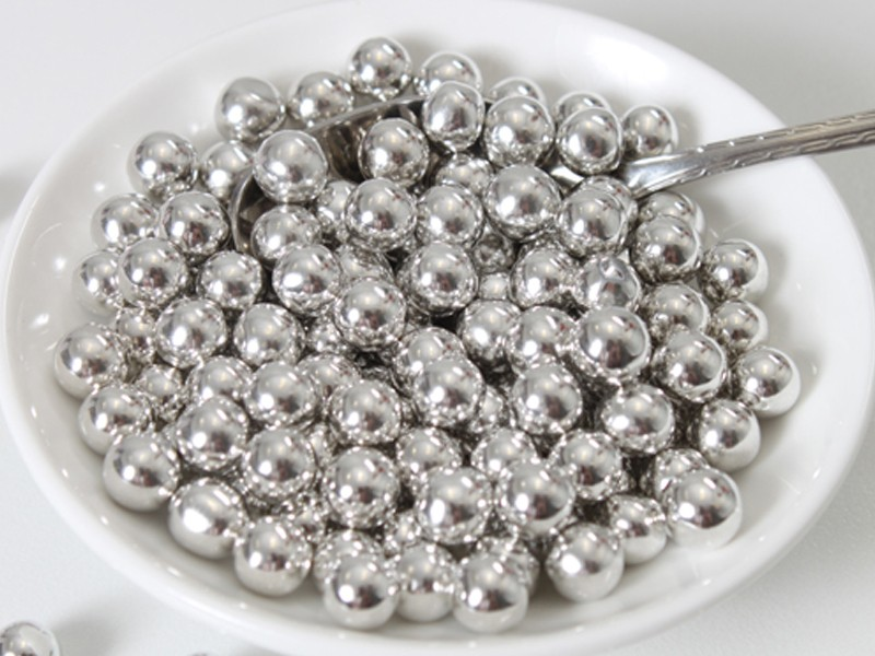 FunCakes Sugarpearls 8mm -Metallic Silver- 80g