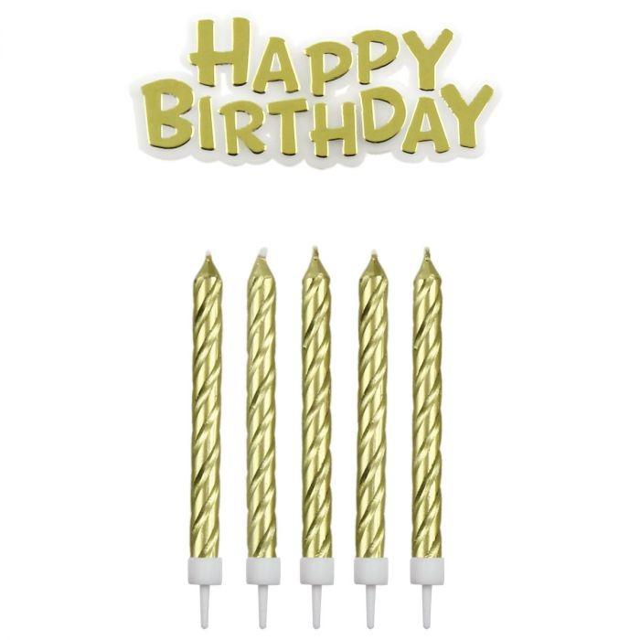 PME Kakelys og Happy Birthday Gull pk/17