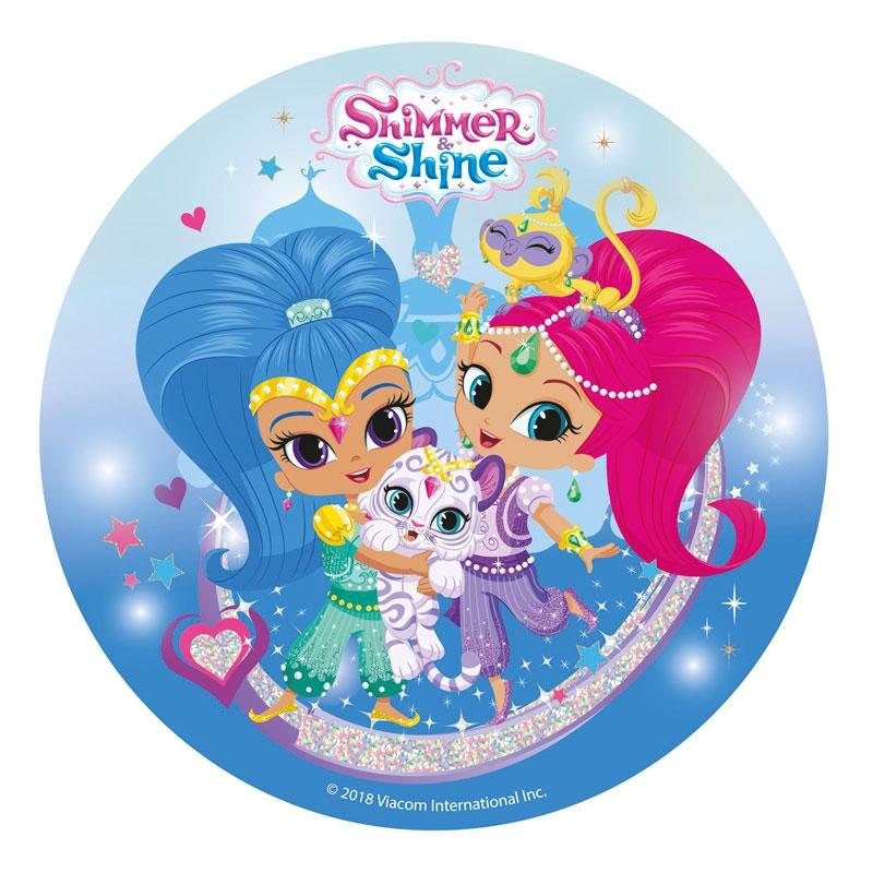 Kakebilde Shimmer og Shine, 20cm