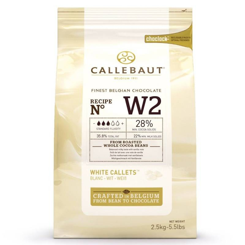 Callebaut hvit sjokolade - 2,5kg