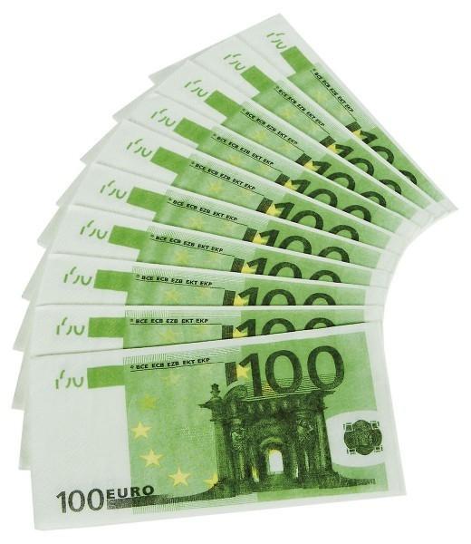 Servietter Euro-sedler