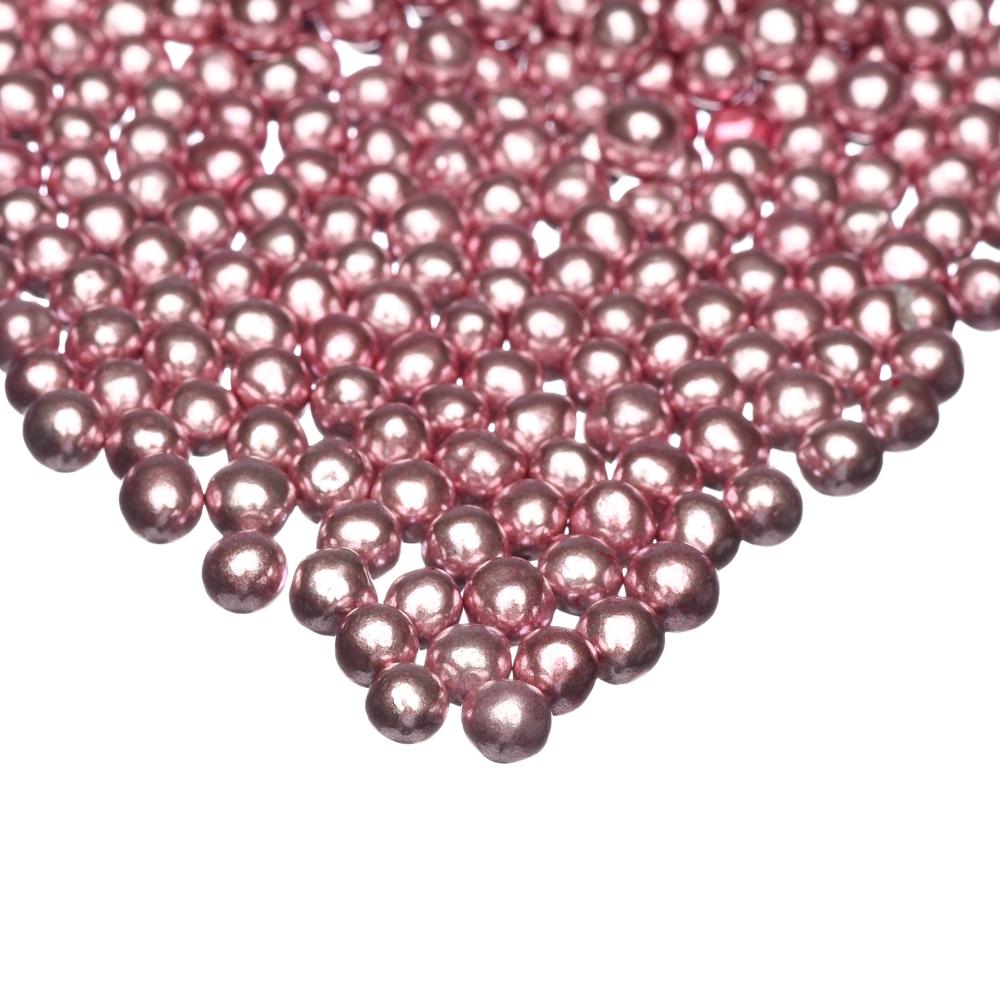 Happy Sprinkles Sjokoladekuler - Rosa Metallic S 75g