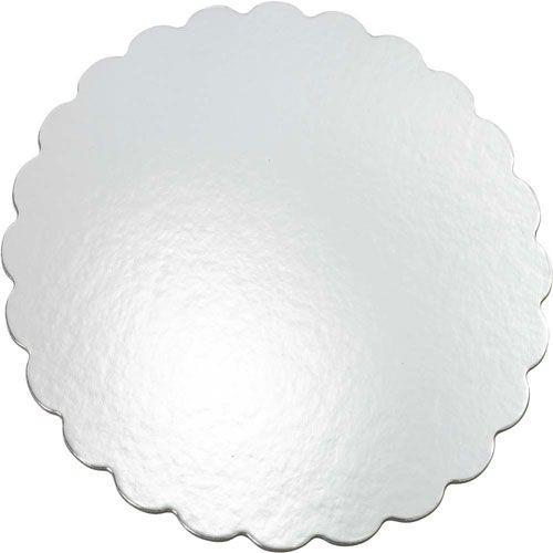 Wilton kakebrett Rundt Sølv med bølgete kant, 30cm, pk/8