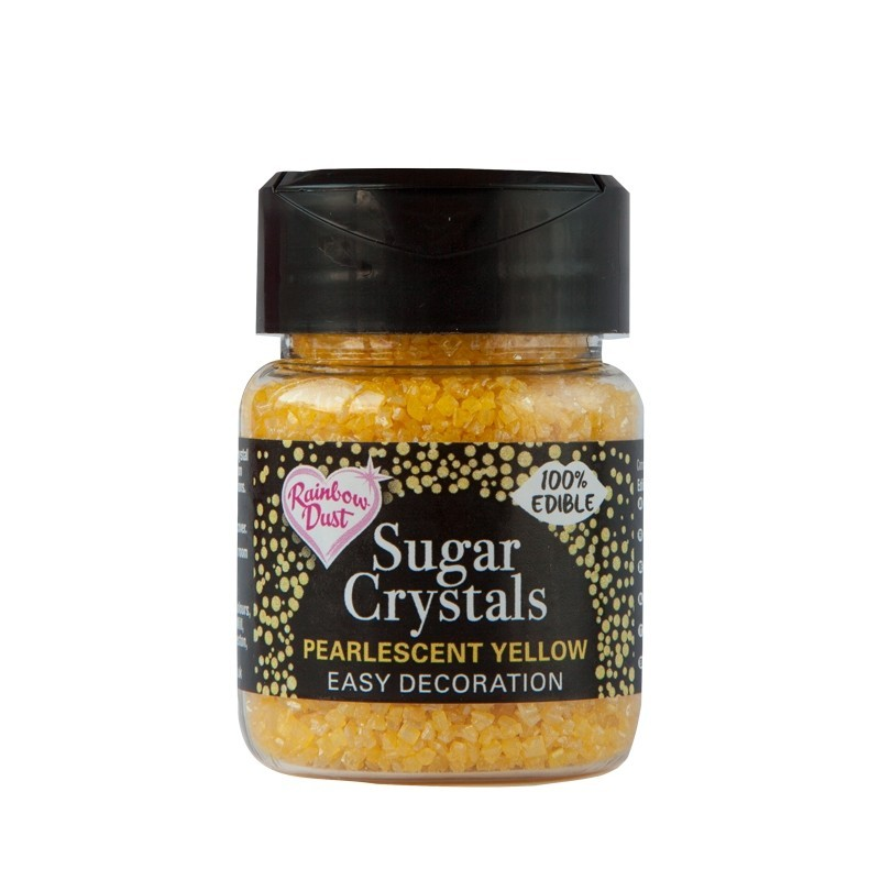 RD Sparkling Sugar Crystals - Pearlescent Yellow - Gult sukker