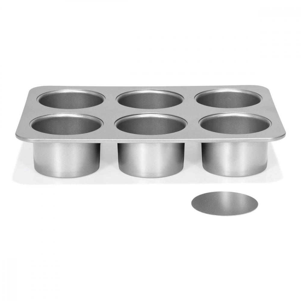 Patisse Silver-Top Mini Ostekakeform med løs bunn, 6 hulrom