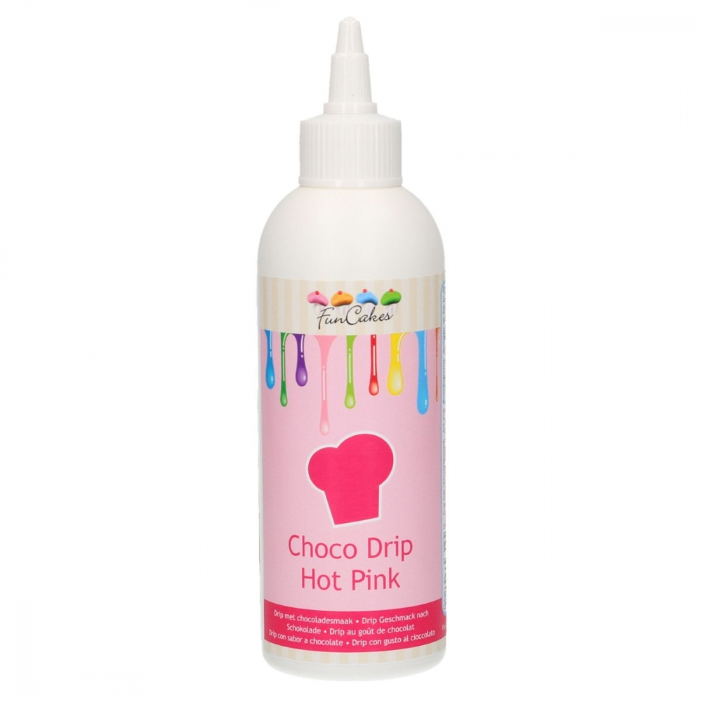 FunCakes Choco Drip -Mørk rosa- 180g