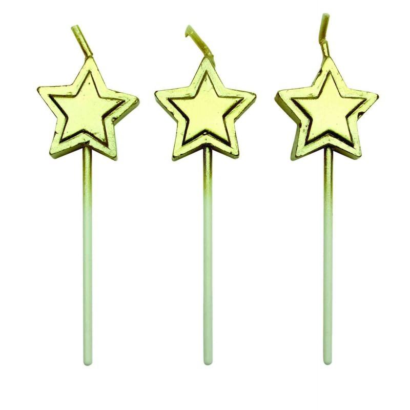 Kakelys Stjerne Gull, sett med 8