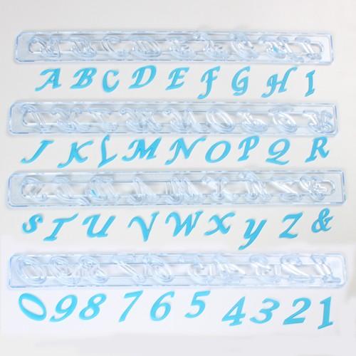 FMM Alfabet & Nummer Tappits Storbokstaver SCRIPT Italic