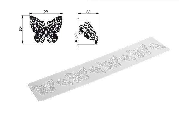 Silikomart Cake Lace silikonmatte -Sommerfugl-