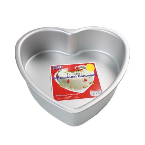 Kakeform, hjerte, 15 cm x 7,5 cm