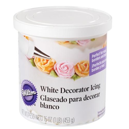 Wilton Hvit glasur for dekorering 450g
