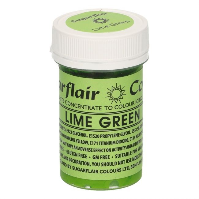 Sugarflair pastafarge Lime Green, 25g