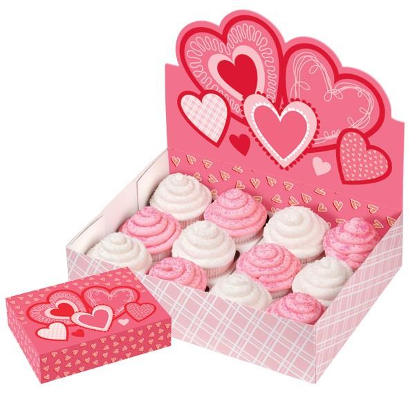 Gaveeske til 12 Cupcakes, Hjerter
