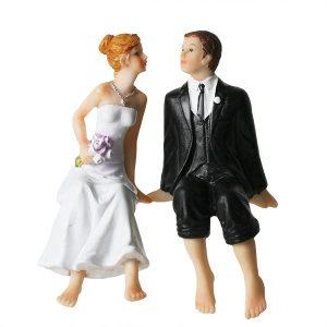 Brudepar Sittende på kant