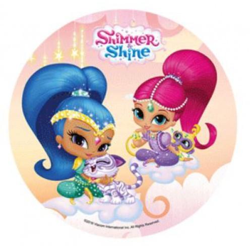 Kakebilde Shimmer og Shine 20cm, nr 1