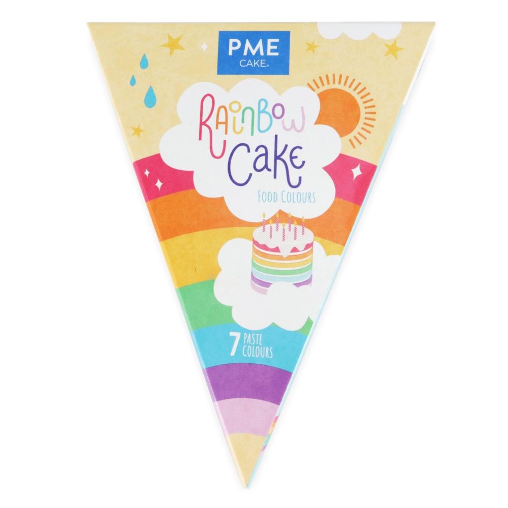 PME Pastafarger - Sett til regnbuekake
